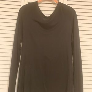 Black Strappy Back Shirt from Venus Size L